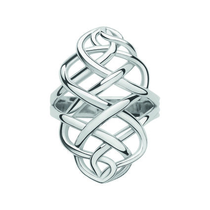 Sterling Silver Woven Ring, , hires