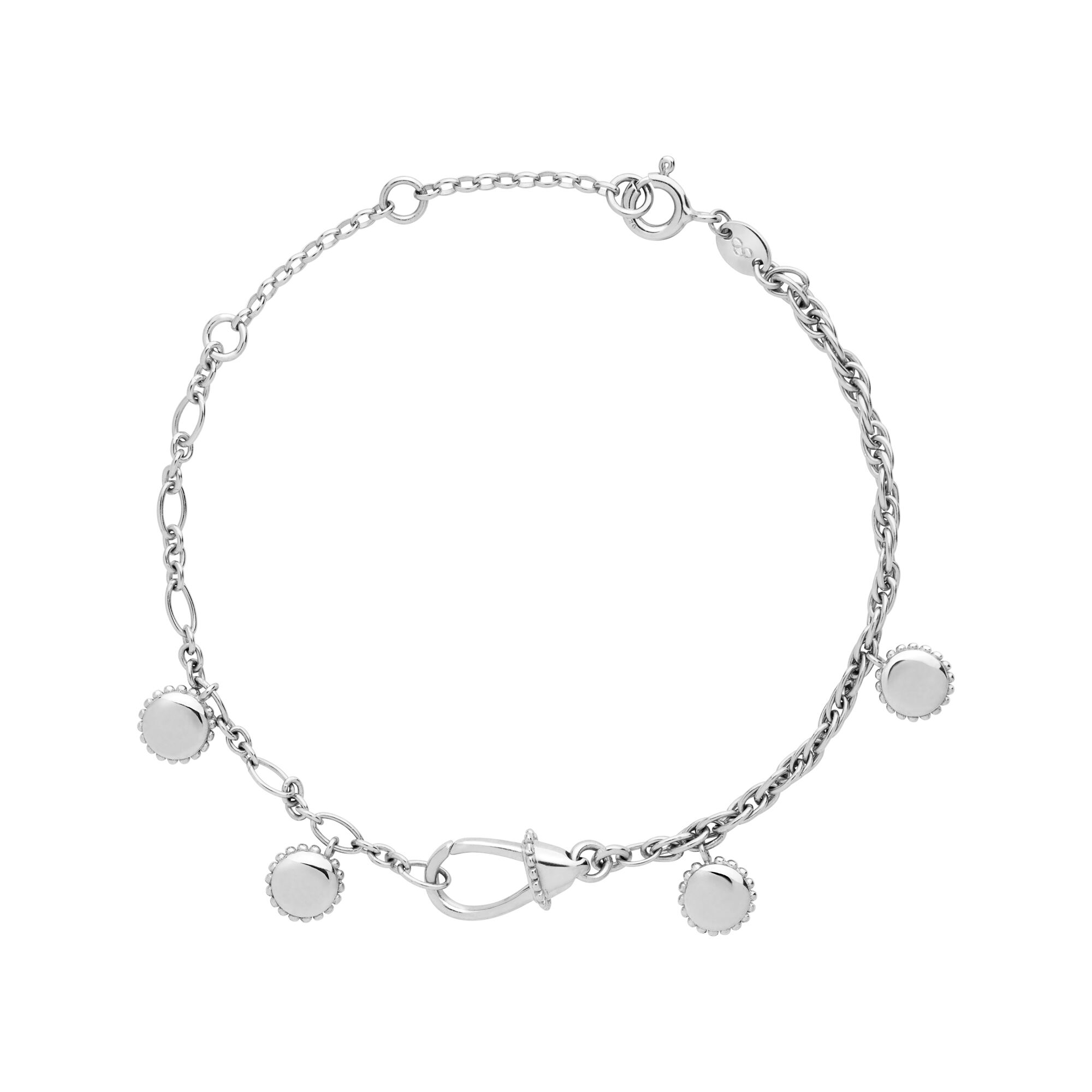 super no stainless galaxie silver freshwater products steel bracelet pearl pure rhodanized parsprototo