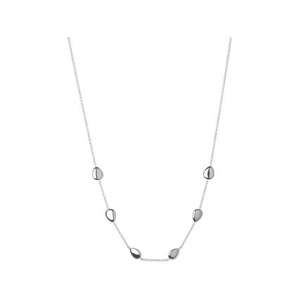Hope Sterling Silver Station Necklace 45cm, , hires