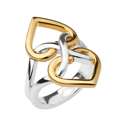 18K Yellow Gold Vermeil & Sterling Silver Infinite Love Ring, , hires