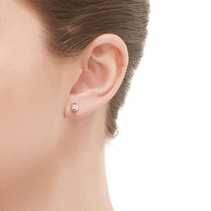 Effervescence Sterling Silver Pearl Stud Earrings, , hires