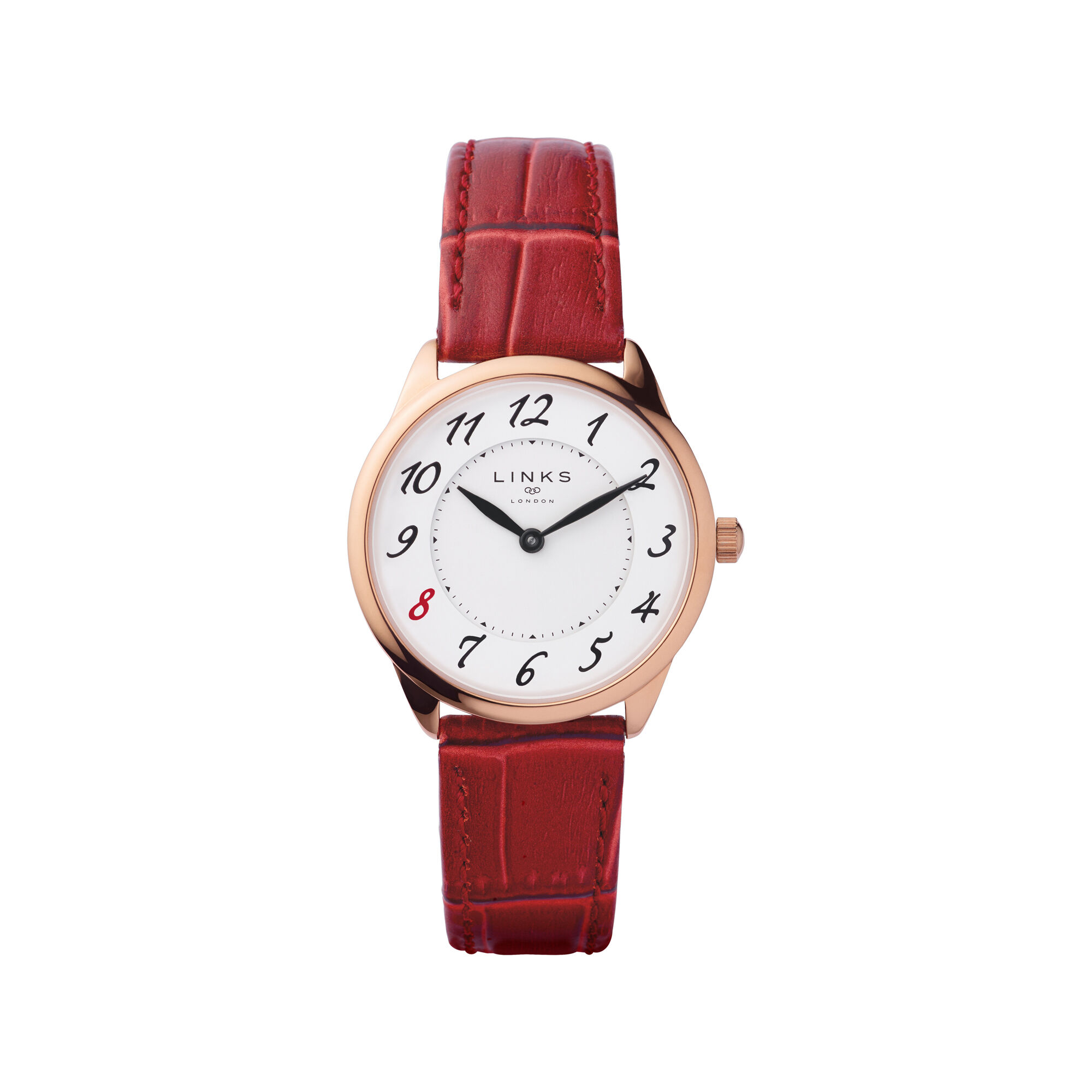 com with embossed view larger quartz amazon gold burgi dp watch watches rose leather accented red s swarovski women
