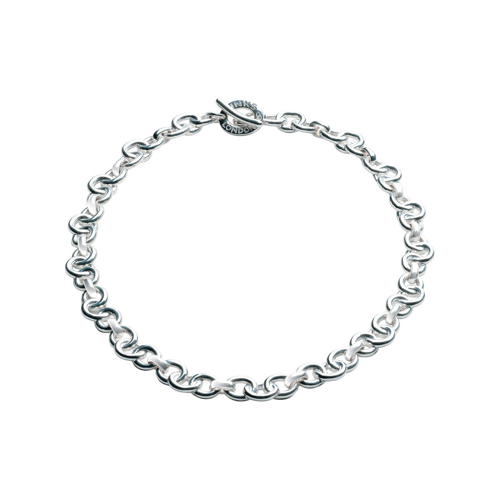Essentials Sterling Silver Signature Necklace, , hires