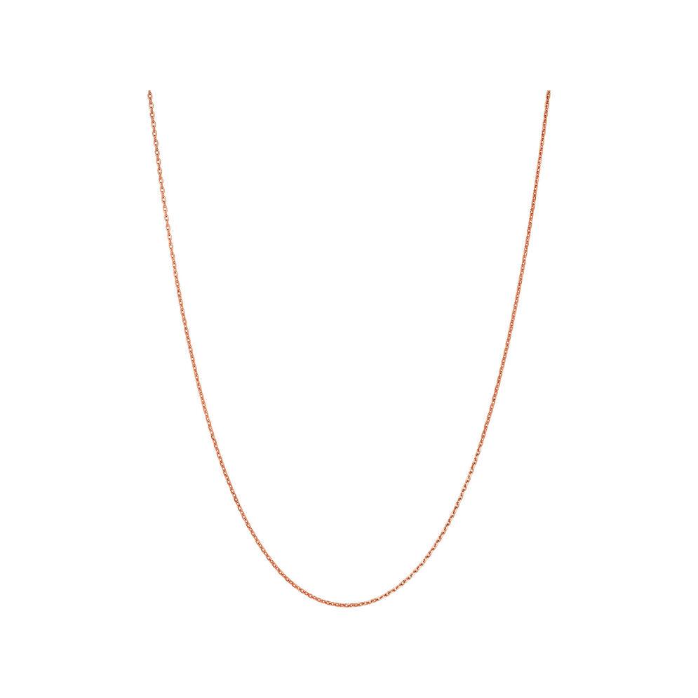 Essentials Rose Gold Vermeil 1.5mm Cable Chain 50cm, , hires