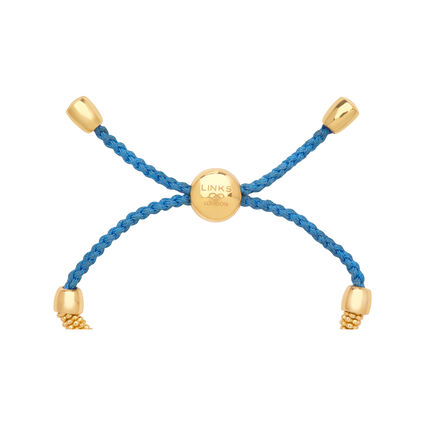 Effervescence XS Yellow Gold Vermeil & Blue Cord Bracelet, , hires