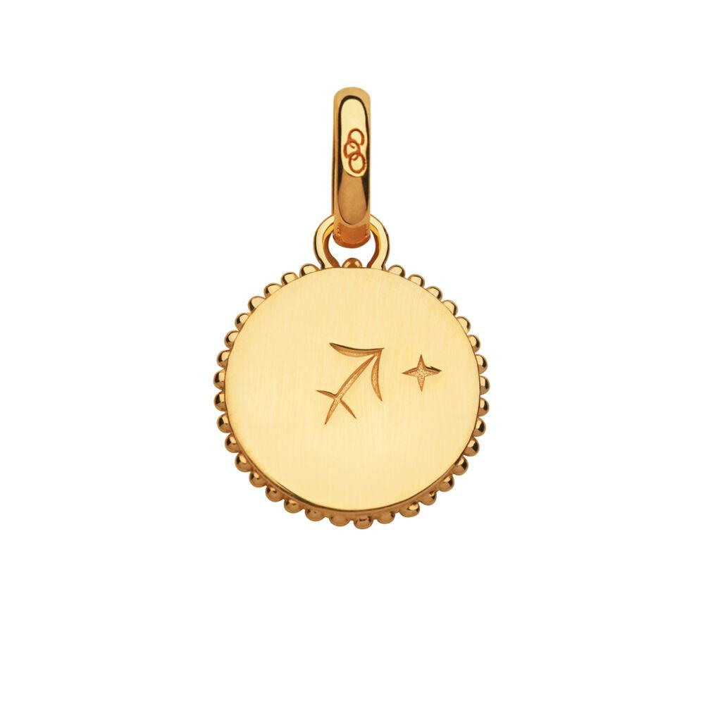 18kt Yellow Gold Vermeil Sagittarius Zodiac Charm, , hires