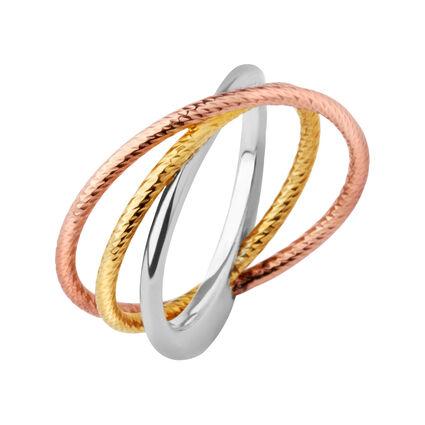 Aurora Mixed Metal Stack Ring, , hires