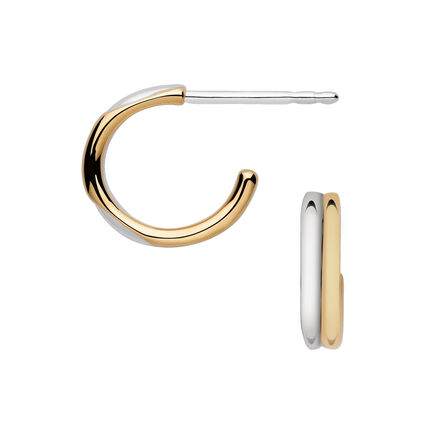 20/20 Bi-Metal Mini Hoop Earrings, , hires