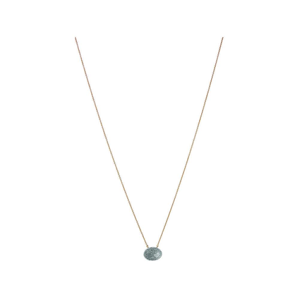 Concave 18kt Yellow Gold Vermeil & Diamond Necklace, , hires