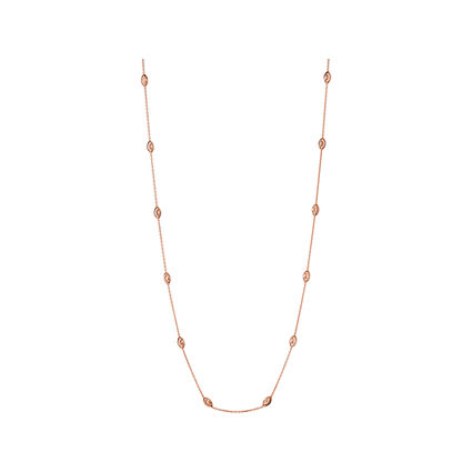 Essentials 18kt Rose Gold Vermeil Beaded Chain Necklace 60cm, , hires