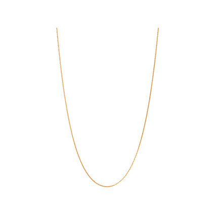 Essentials 18K Yellow Gold Vermeil 1.5mm Cable Chain 70cm, , hires