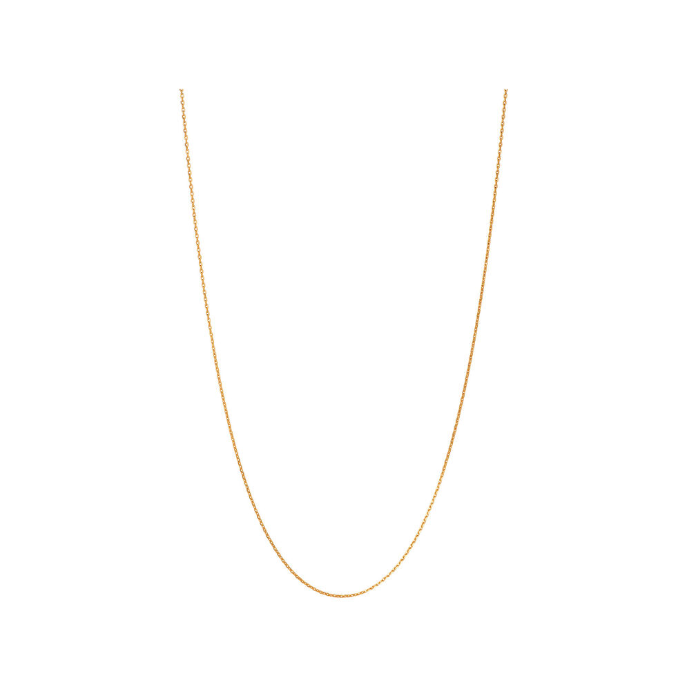 Essentials 18kt Yellow Gold Vermeil 1.5mm Cable Chain 70cm, , hires