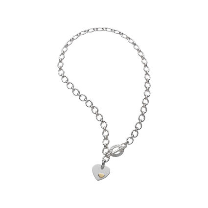 Essentials Sterling Silver Classic Links of London Heart Necklace, , hires
