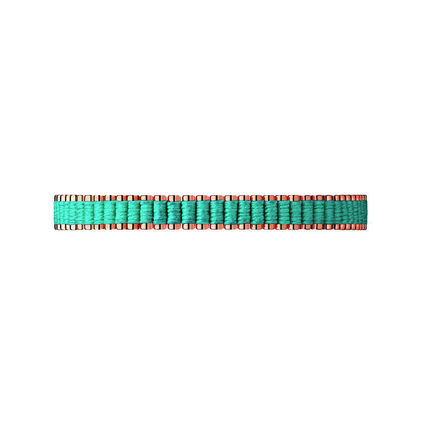 18kt Rose Gold Vermeil & Turquoise Cord Mini Friendship Bracelet, , hires