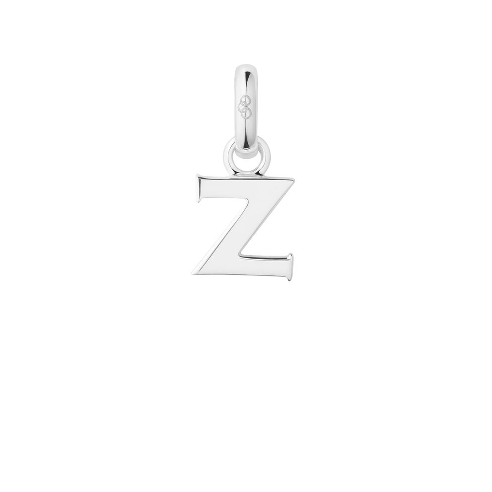 Sterling Silver Z Charm, , hires