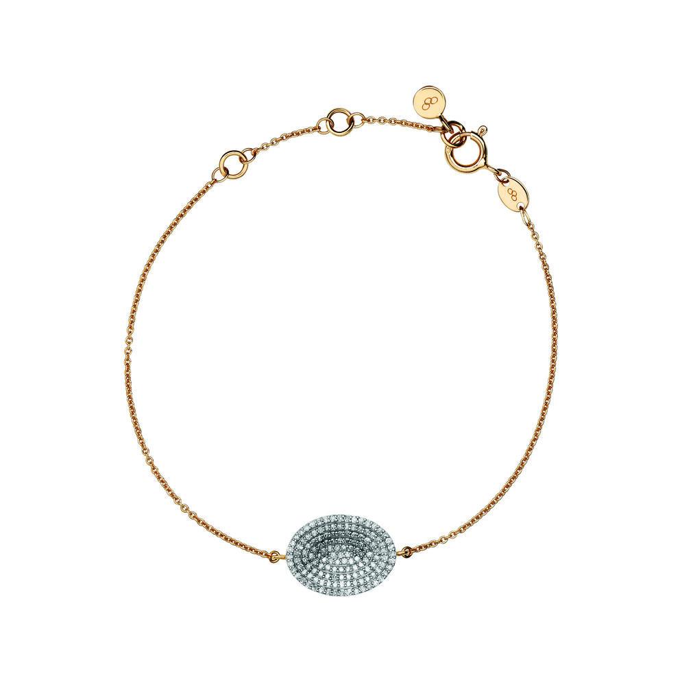 Concave 18kt Yellow Gold Vermeil & Diamond Bracelet, , hires