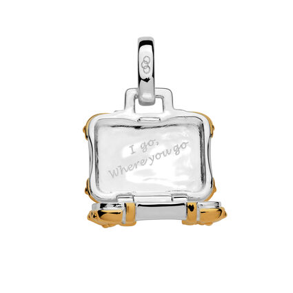 Sterling Silver & 18K Yellow Gold Vermeil Suitcase Charm, , hires