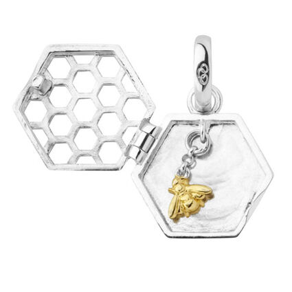 Sweeter than Honey Sterling Silver & Gold Plated Locket Charm, , hires