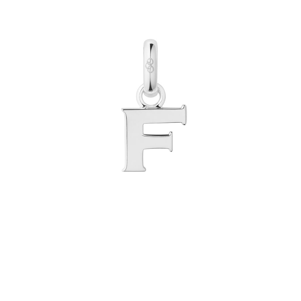 Sterling Silver F Charm, , hires