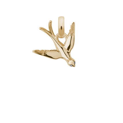 18kt Yellow Gold & Diamond As Free as a Bird Charm, , hires