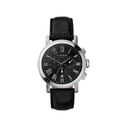 Richmond Stainless Steel Case Black Dial Chronograph, , hires