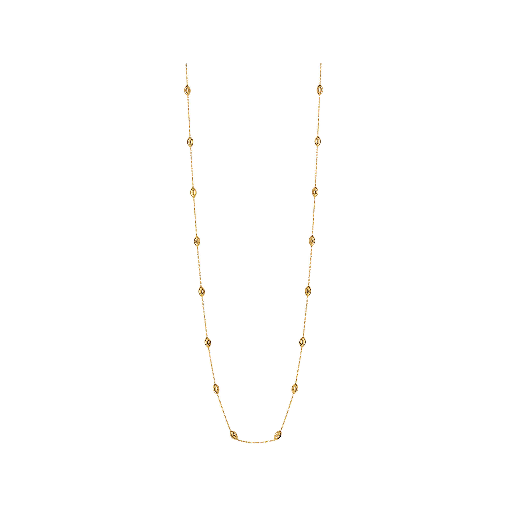 chains chain twisted gold jewelry products yellow row necklace rondels