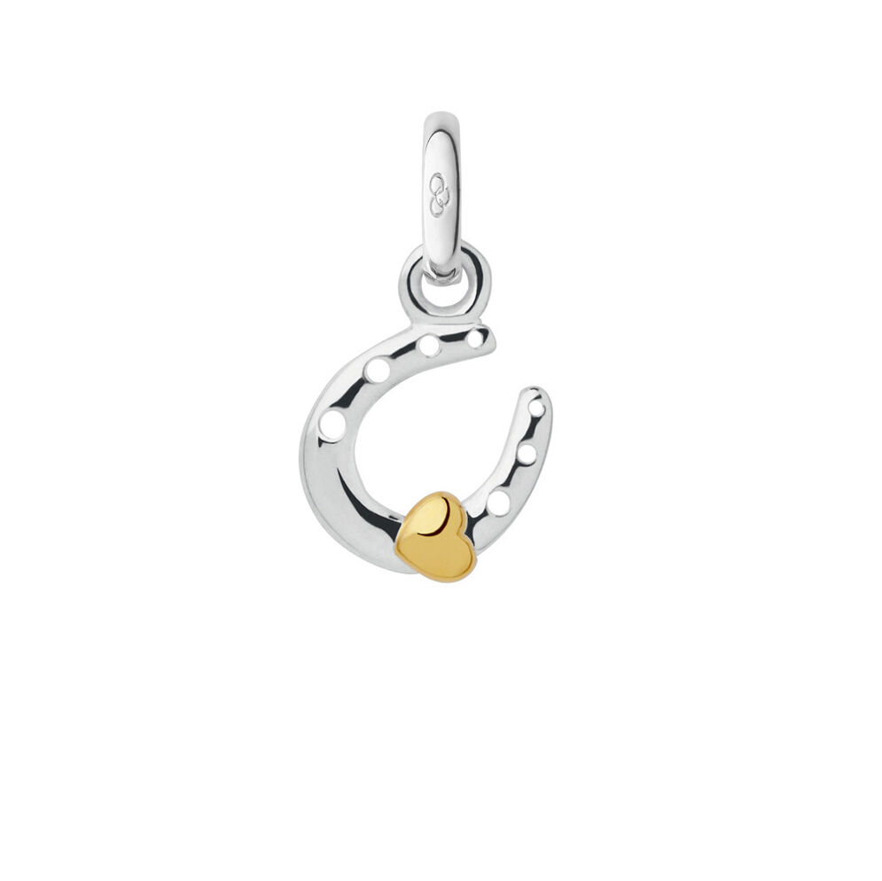 Sterling Silver Horseshoe & Heart Mini Charm, , hires