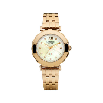 Windermere Rose Gold Plate Bracelet Watch, , hires