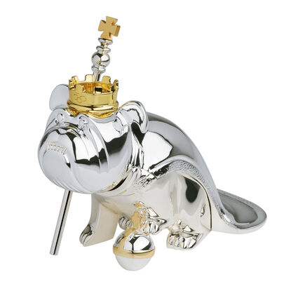 Silver Plated Regal Nodding Dog, , hires