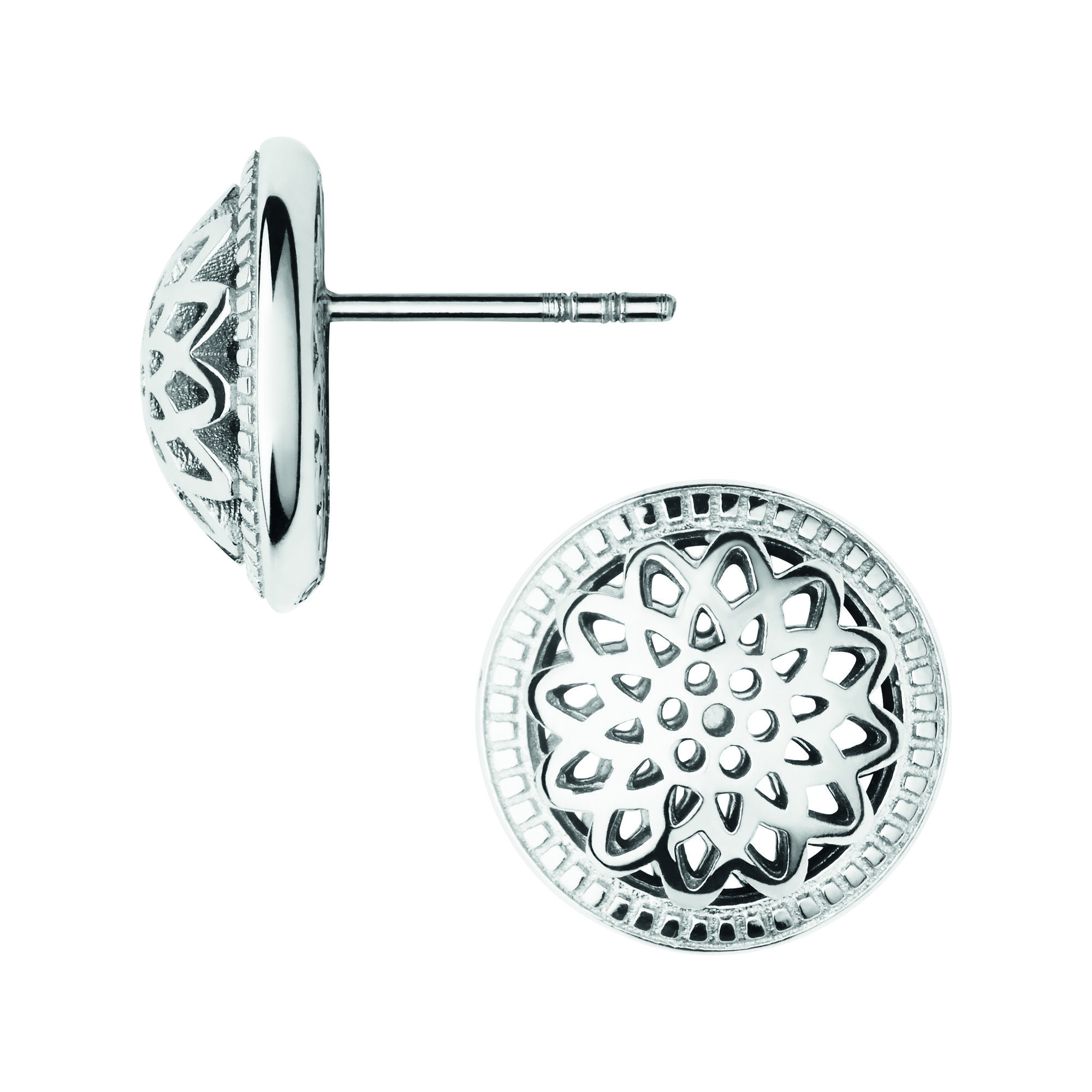 Timeless Sterling Silver Domed Stud Earrings Hires