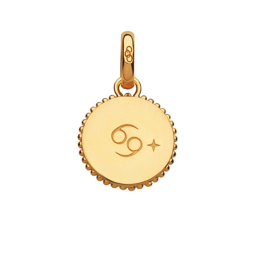 18kt Yellow Gold Vermeil Cancer Zodiac Charm, , hires