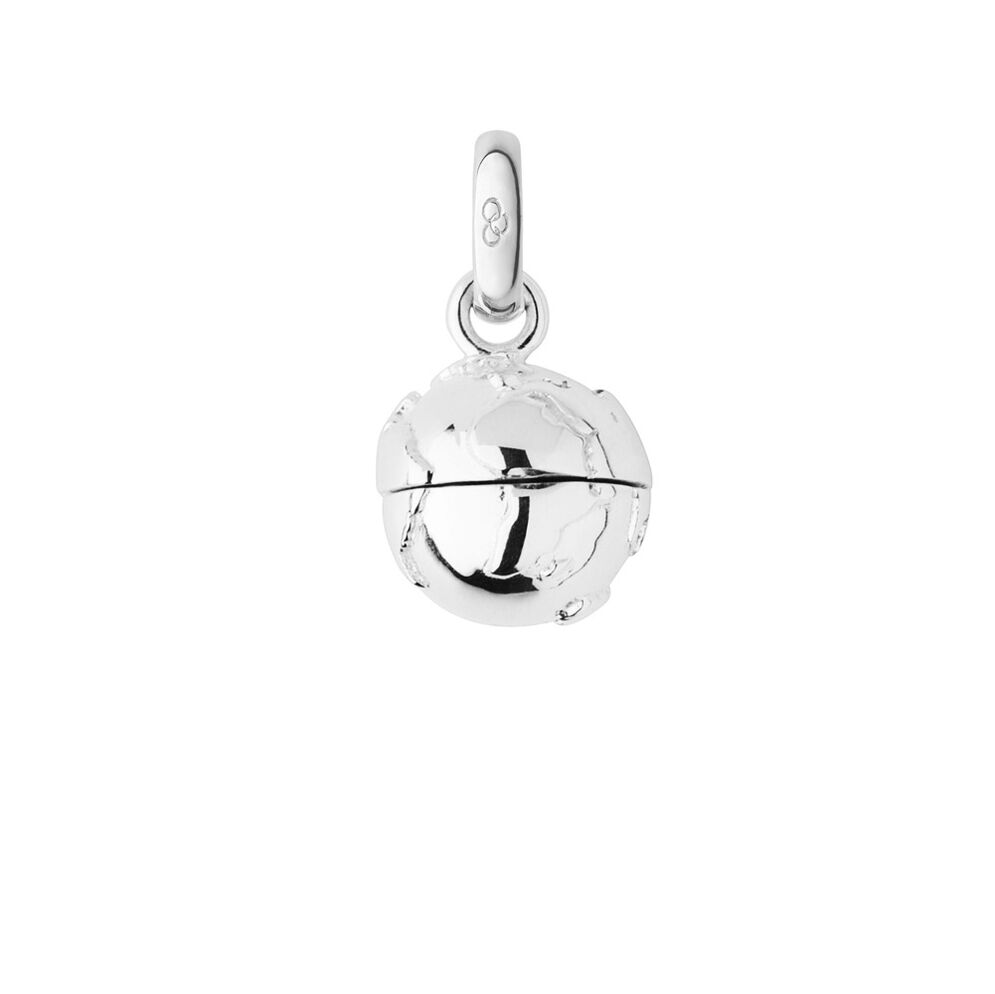 Sterling Silver Travelling Memories Globe Locket Charm, , hires