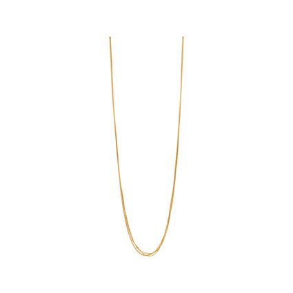 Essentials 18kt Yellow Gold Vermeil Silk 5 Row Necklace 80cm, , hires