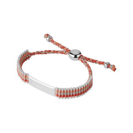 Coral Grey Glitter Friendship ID Bracelet, , hires