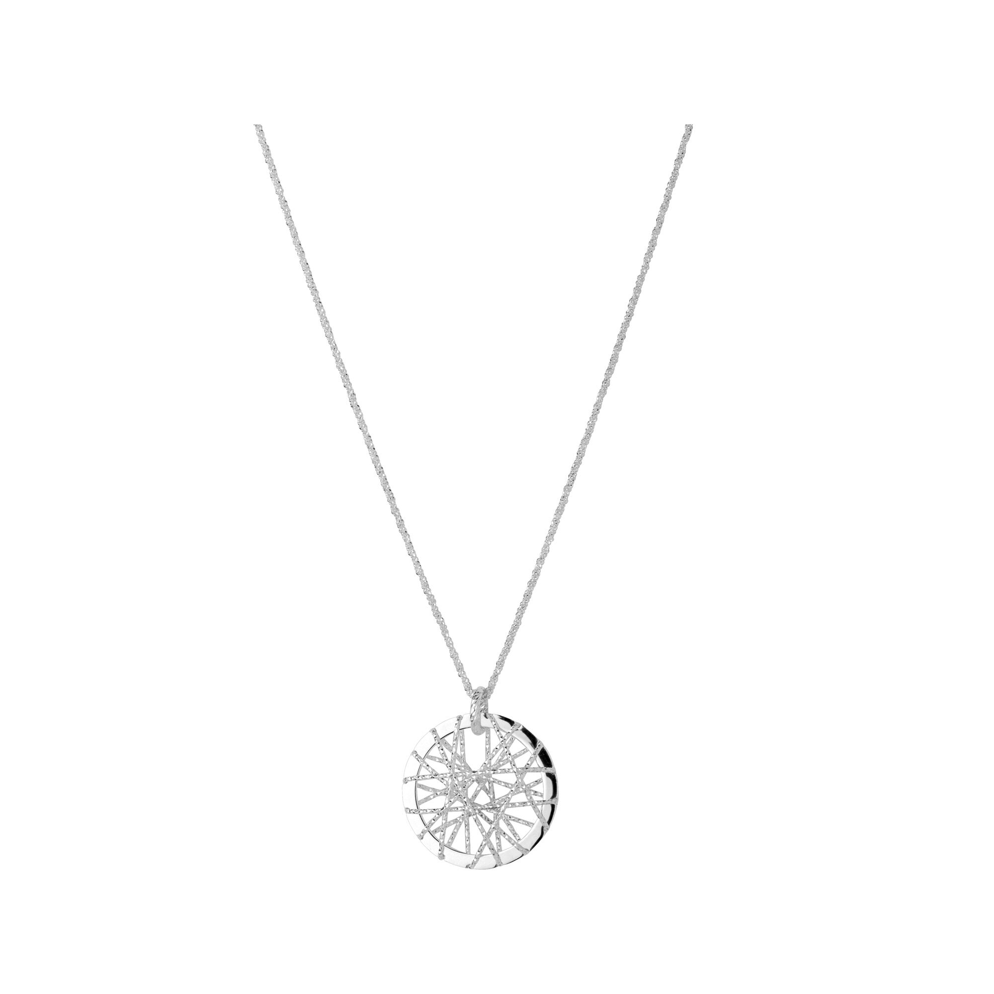 Dream catcher silver necklace dream catcher sterling silver necklace hires mozeypictures Image collections