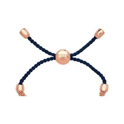 Effervescence XS Rose Gold Vermeil & Navy Cord Bracelet, , hires