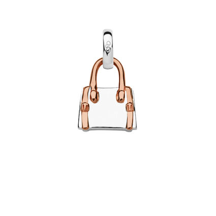 Sterling Silver & 18kt Rose Gold Vermeil Handbag Charm, , hires