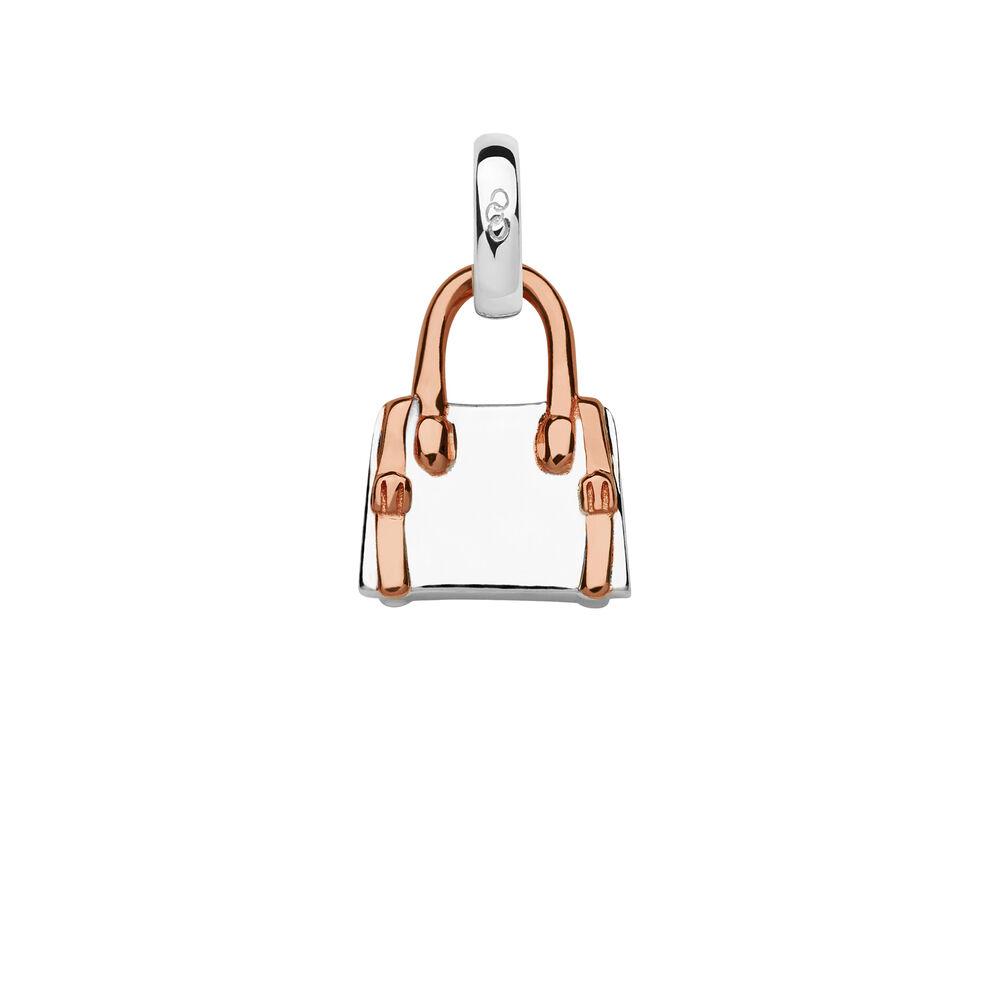 Sterling Silver & 18kt Rose Gold Vermeil Handbag Charm, , hires