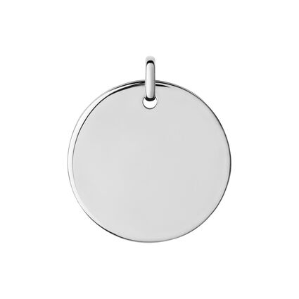 Narrative Sterling Silver Large Round Disc Pendant, , hires
