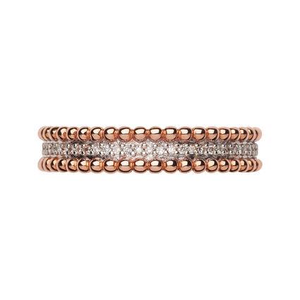 Effervescence 18kt Rose Gold & Diamond Band Ring, , hires