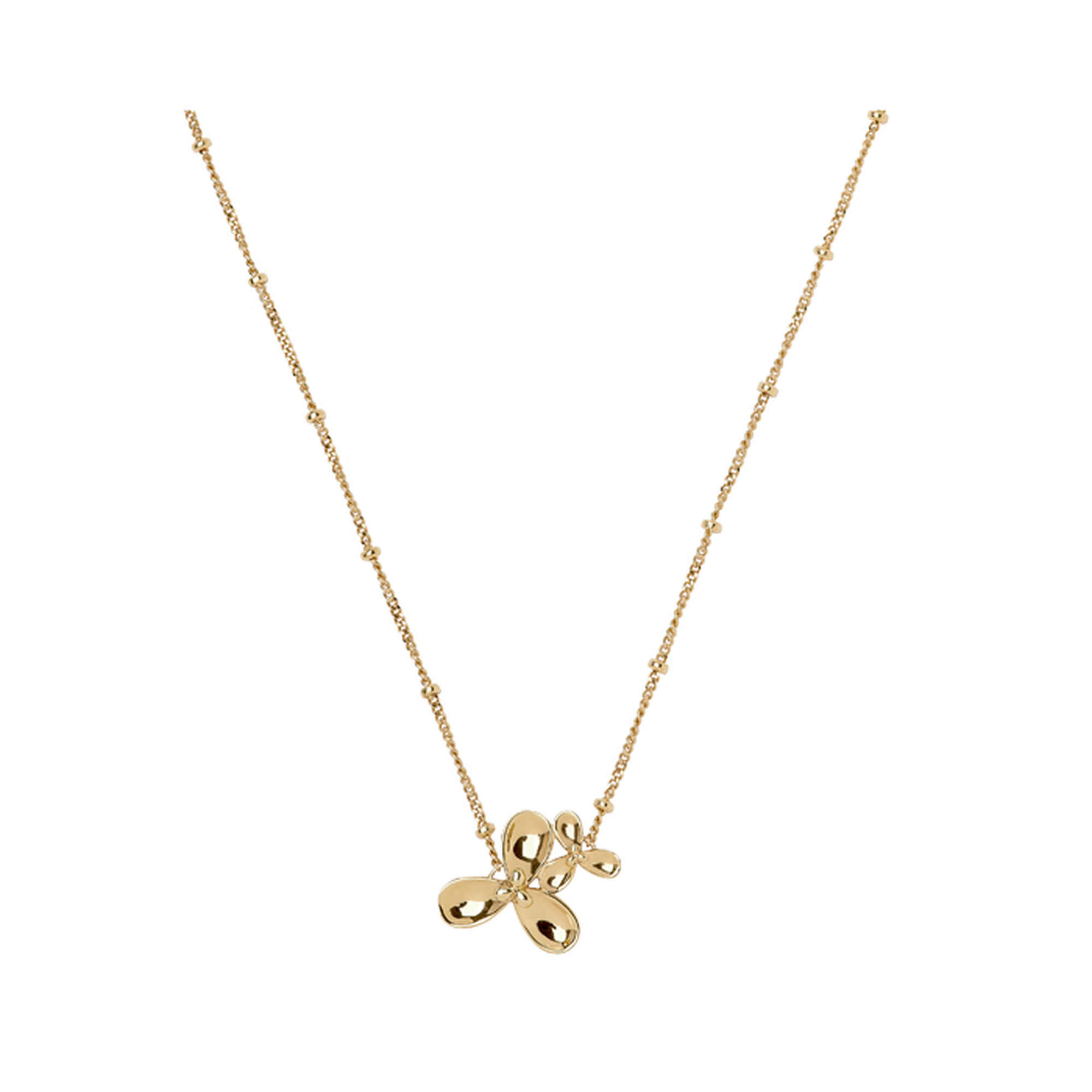 in diamonds gold medium ippolita stardust necklace with flower pendant a
