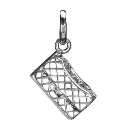Quilted Clutch Bag Charm, , hires