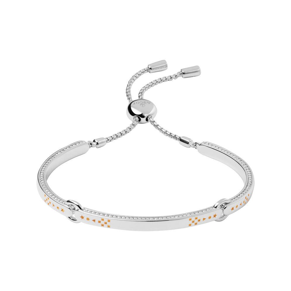 Ascot Narrative Sterling Silver & 18kt Yellow Gold Vermeil Bracelet, , hires