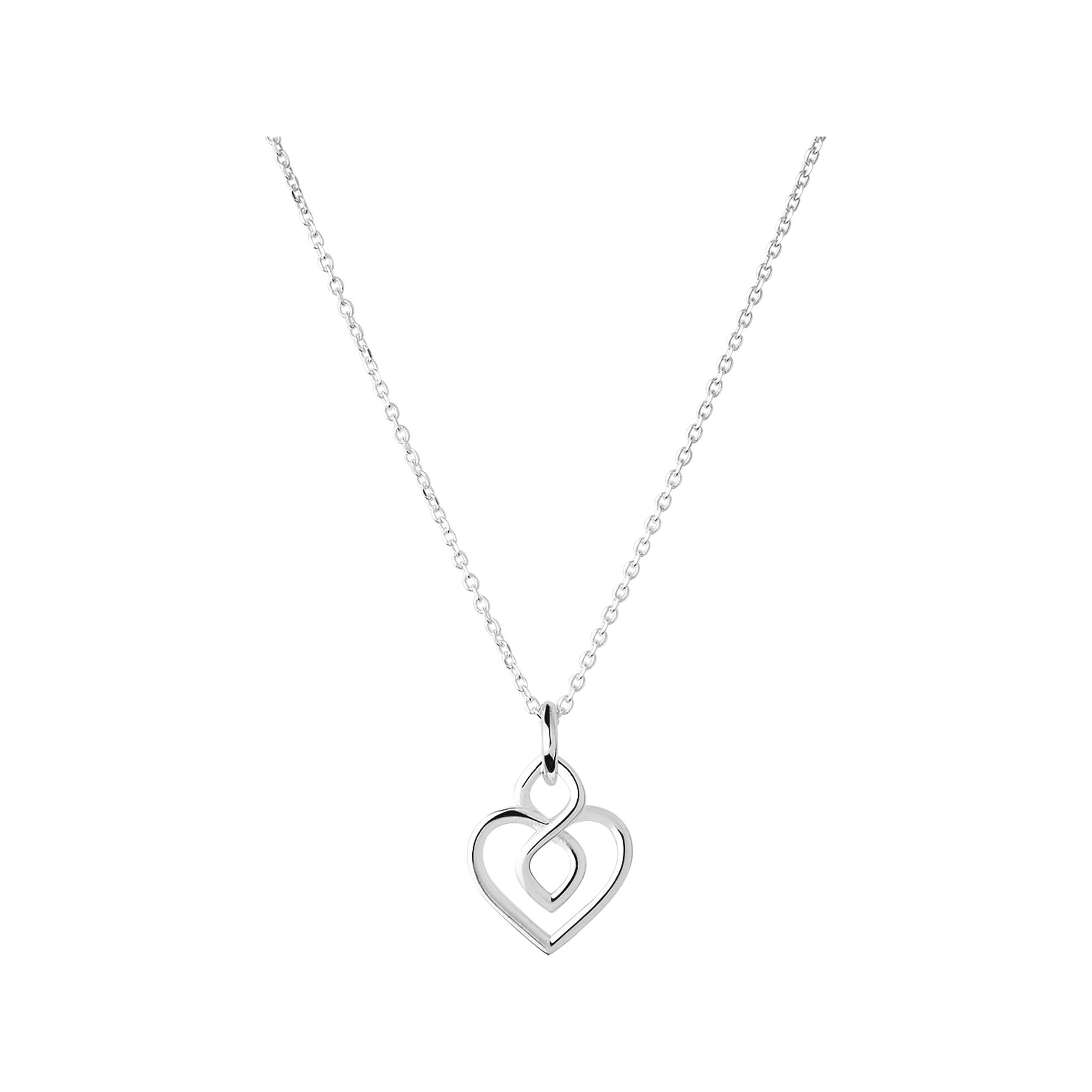infinity sterling festoon store double necklace silver