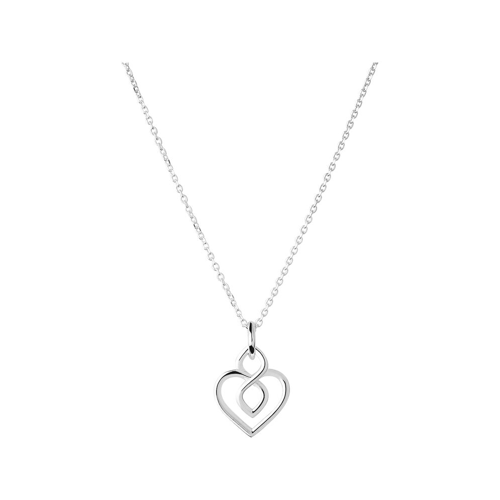 Infinite Love Sterling Silver Heart Necklace, , hires