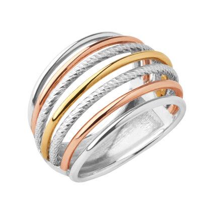 Aurora Mixed Metal Cocktail Ring, , hires