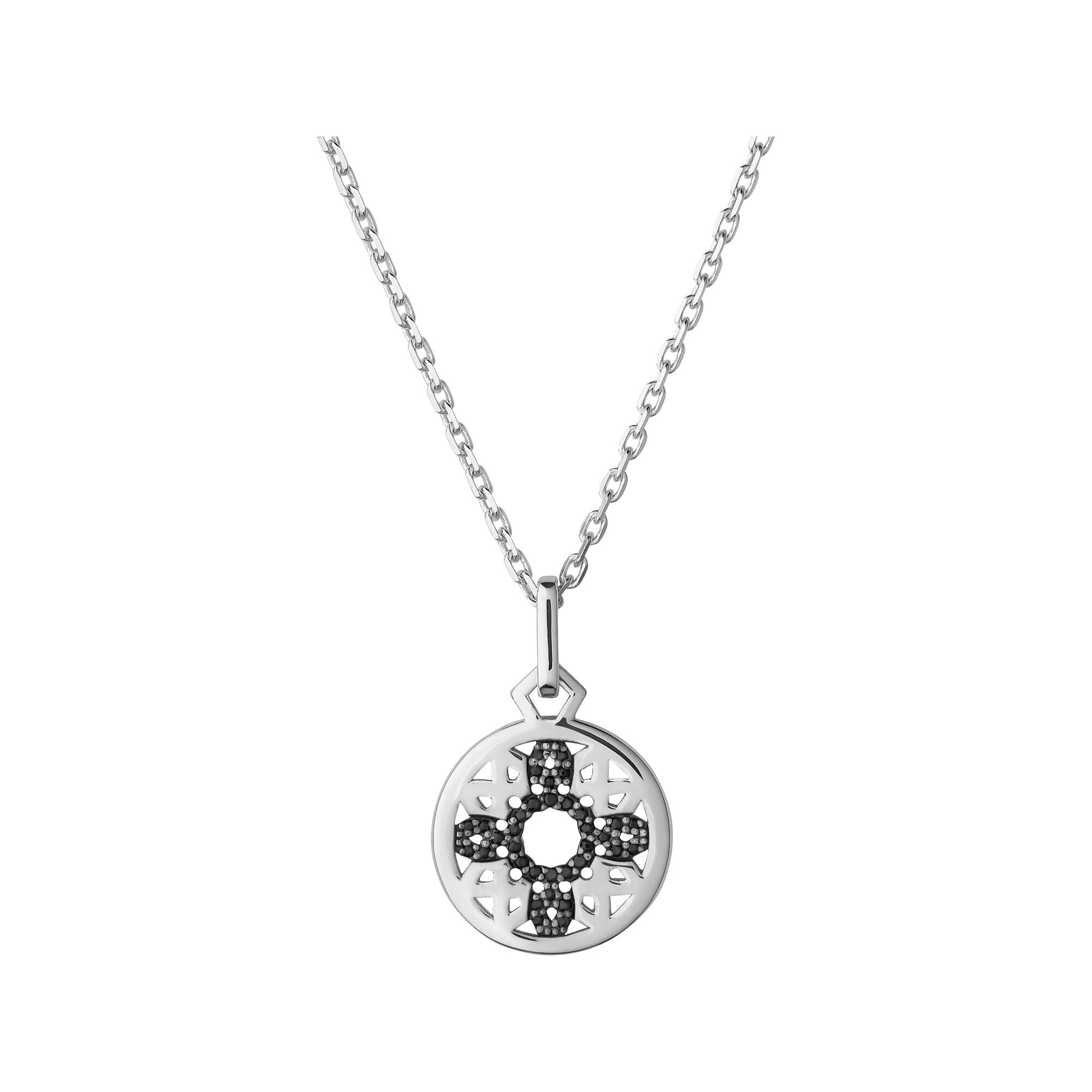 multi getty circle store disc the necklace black mulit products