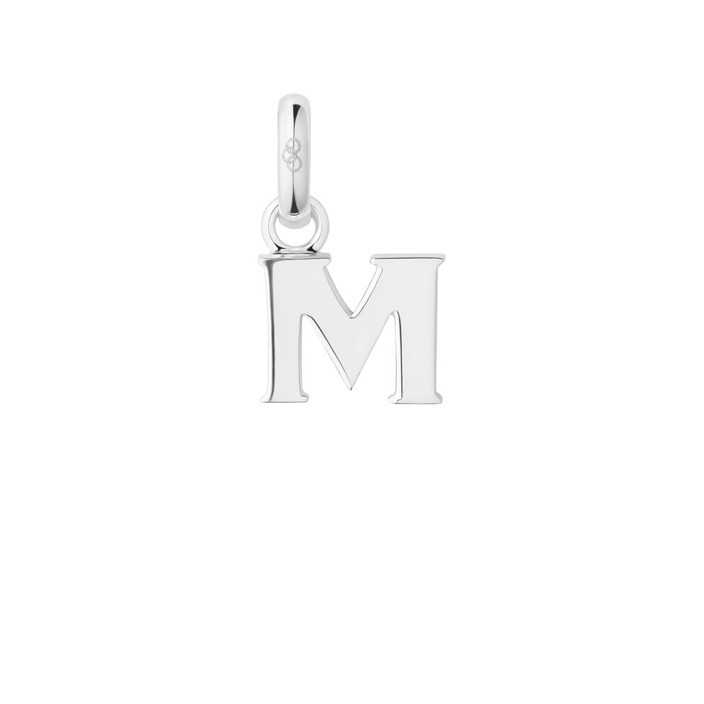 Sterling Silver M Charm, , hires