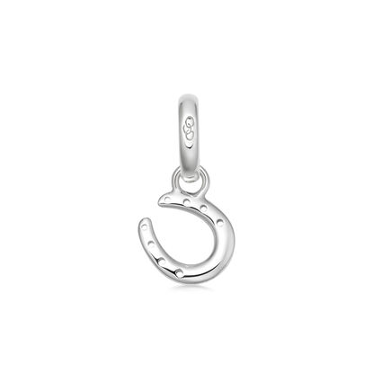 Ascot Sterling Silver Horseshoe Charm, , hires
