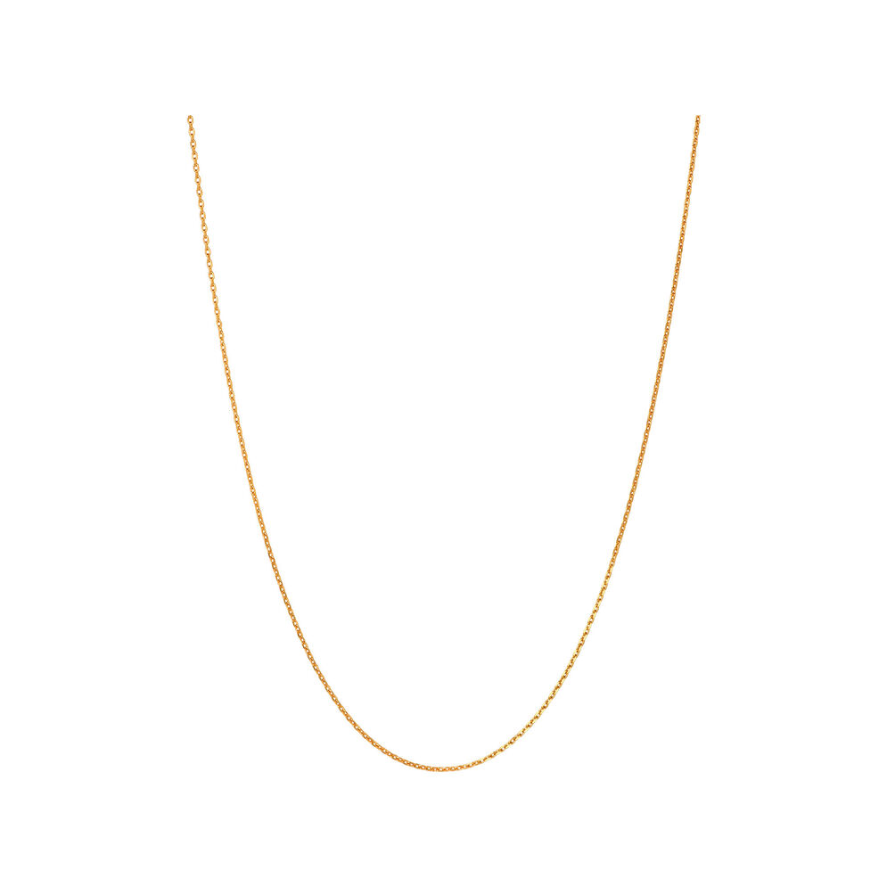 Essentials Yellow Gold Vermeil 1.2mm Cable Chain 50cm, , hires